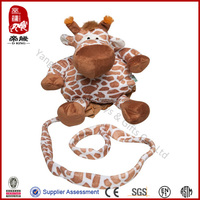 Kid keeper backpack animal giraffe baby/kid bag plush baby carrier baby harness backpack