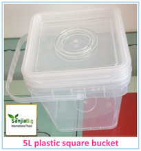 Plastic Material and plastic oval bucket for food/paint/lubricant Usage plastic bucket
