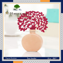 ceramic perfume bottle car incense aroma scented air freshener poppy reed diffuser oem for gift set or home decor