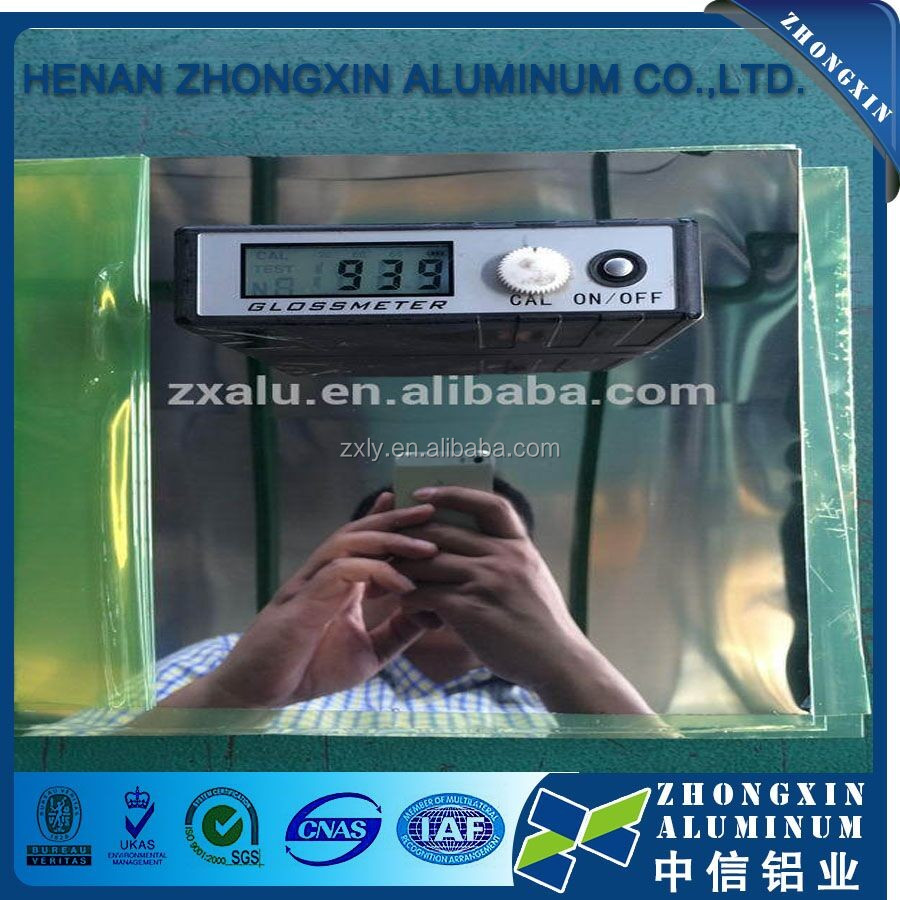 Aluminum mirror surface finish sheet/Polished Hammer Finished Aluminum Sheet