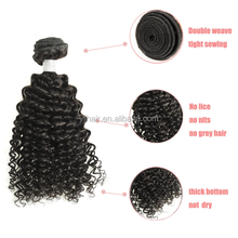 New arrival European human virgin full cuticle afro kinky curly hair wholesale price black natural color