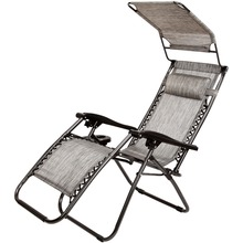 Wholesale Office Modern Folding Zero Gravity Chair with Shade Canopy