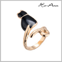 Top Sale!! Rose Gold Painting Elegant twins diamond rings