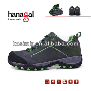 Hot sale waterproof Nubuck leather hiking shoes trekking shoes colorful ladies shoes