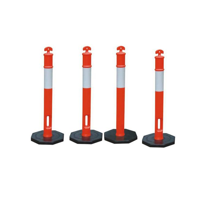 T Post spring road barrier posts