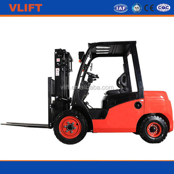 3ton 7000mm hydraulic diesel forklift with 3 stage full free mast with Japanese S4S engine