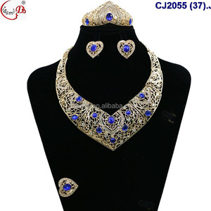 CJ2055(37-49) New arrival fashion elegant rhinestone crystal jewelry sets different design and different color can pay by L/C