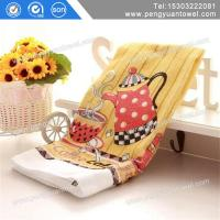 China supply manufacturer cheap custom cotton kitchen tea towel printed