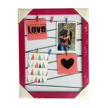 2017 New fashion design memo photo frame clip photo frame wall plastic picture frame