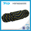Black fleck white color 16 strand double braid PP rope in hank packing