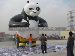 large standing kongfu panda inflatable model for sale