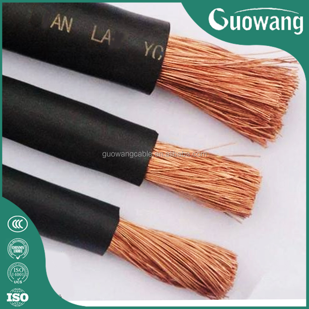 300amp 400amp Welding Cable Low Voltage Cable Connector for Welding Machine rubber coated electrical wire