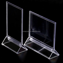 T shape A4 A5 A6 8*11 Acrylic Menu display Holder Table Tent Card Sign Holder