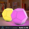 2017 Latest creative product soft baby light multicolor changing water cube shape LED night lgiht