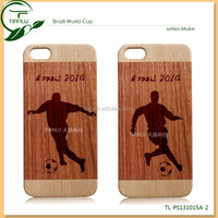 100% natural wood moblie phone case for iphone, super quality craft design wood cover,customize design for 2014 world cup