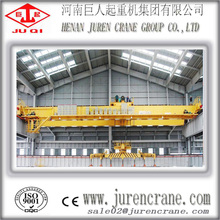 QC overhead cranes with magnet spreader for steel plates