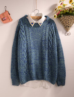 Loose knitting sweater knit a female twist restore ancient ways more noise pullovers