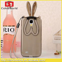 Case For Samsung Galaxy S4 I9500 Rabbit Ear Soft TPU Transparent Back Cover