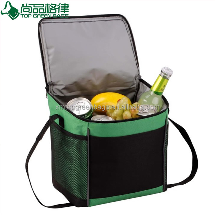 2017 Waterproof 600D polyester single shoulder insulated picnic cooler bag