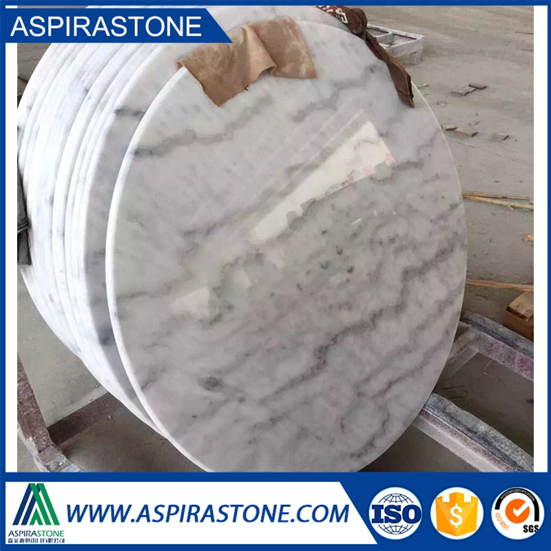 round marble slab table top or marble top dining table