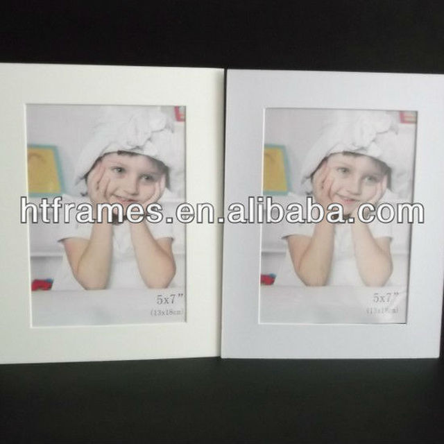 Newest cream and white cardboard picture frames 4x6 5x7 8x10 a4