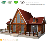 2015 new luxury wooden villa home for sale