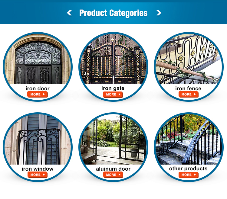 Cheap price new house cast iron gate design door prices