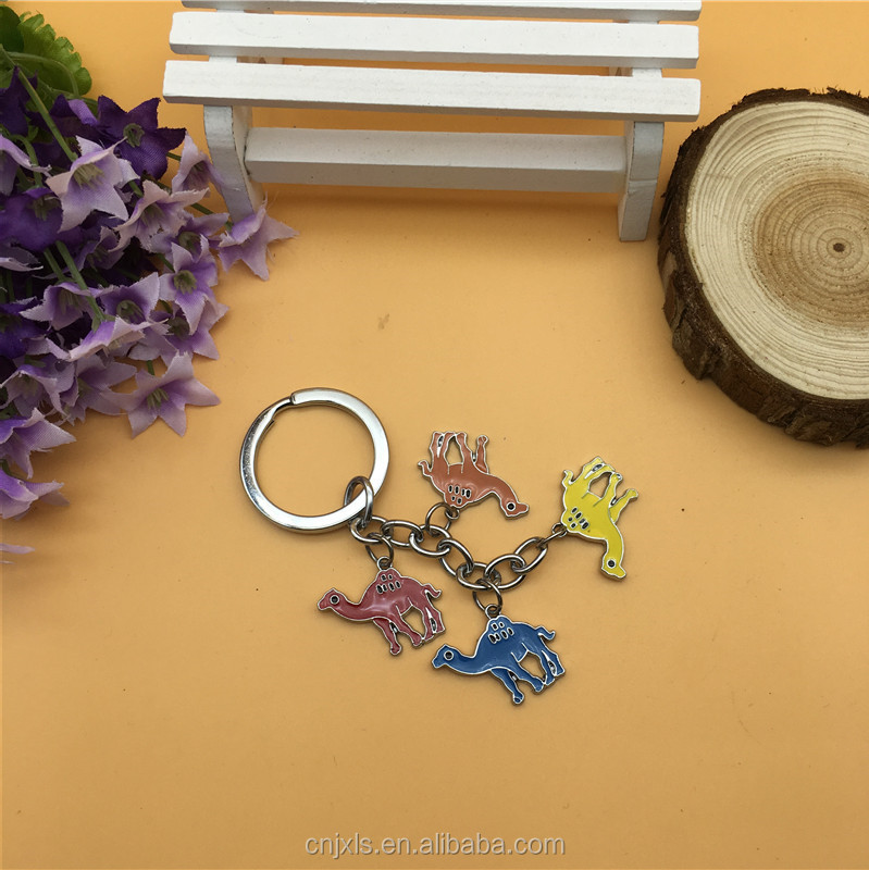 Camel Metal charm keychain for gifts , souvenirs