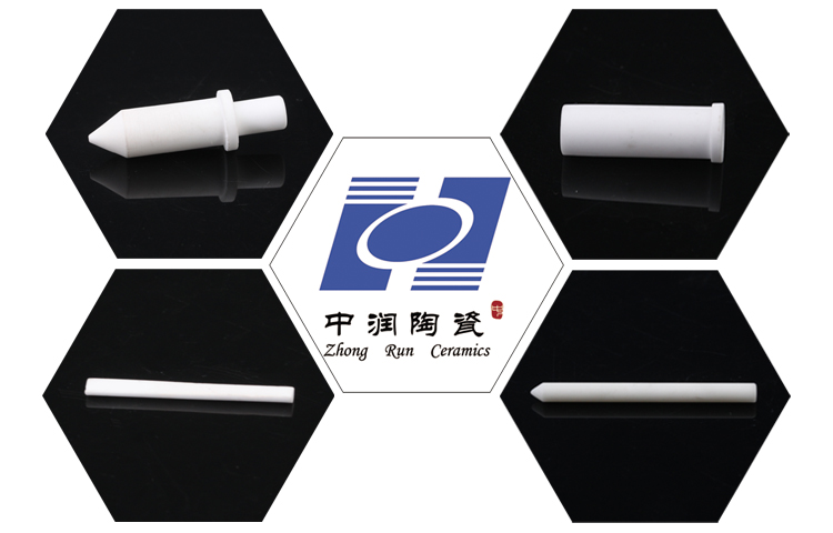 custom polished alumina ceramic rod /guide pin
