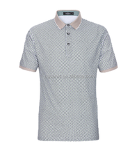 Good shape small plaid Traditional Collar short sleeve Polo T shirt for Men