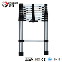 2.6 m single bamboo aluminum telescopic ladder