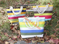 Fashin new lady fashion handbag canvas anchor beach bag 2015 bag guangzhou