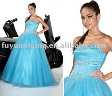 Light Blue Drop Waist Prom dress /FYH-PM80029