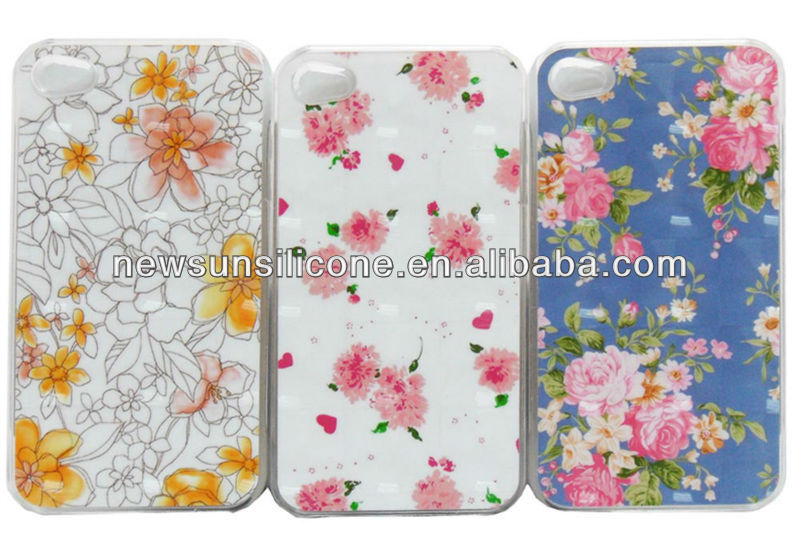 3D sublimation cell phone PC cases for iphone4/4s