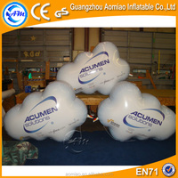 Cloud shape helium balloon self inflating inflatable helium balloons on sale