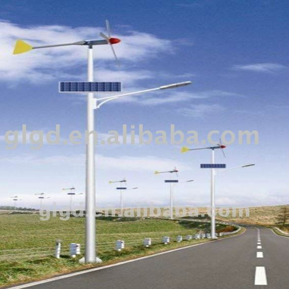 16w-120w 12v-24v dc 3500-6500k wind solar hybrid led street ligthings with wind generrater and solar panel CE ROHS IEC ISO