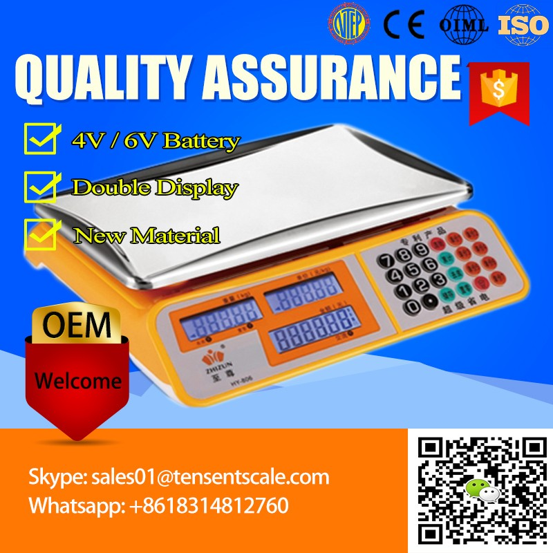 Best 40kg market scale CE china electronic price computing scales