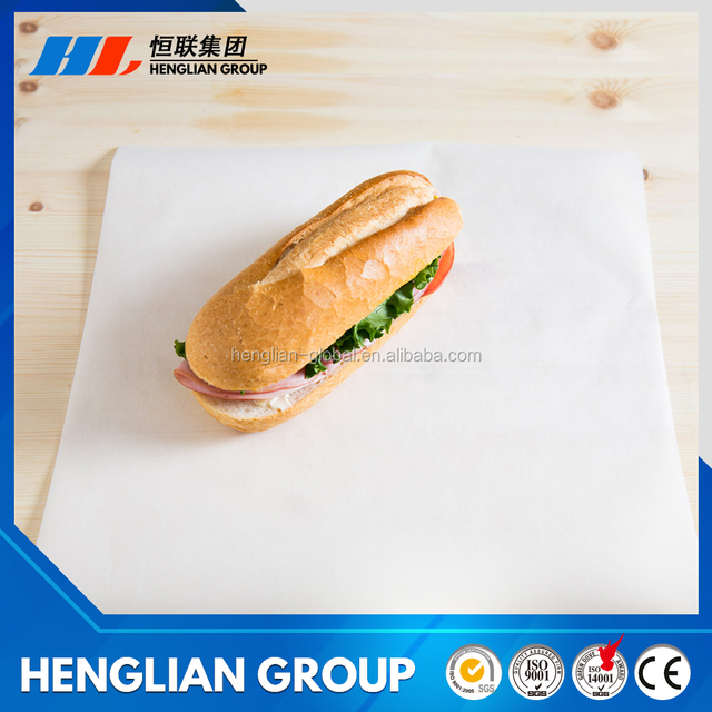 Sandwich paper for Middle East/sandwich wrapping paper for food warrping