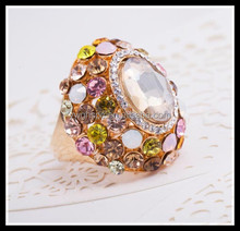 2015 resin opal fashion finger ring jewelry gold ring