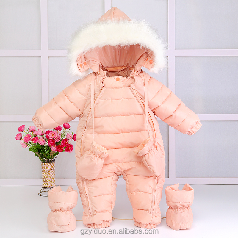 Online Child Snowsuit Clothes Kids 100% Down Coats Baby Clothing For Wholesale