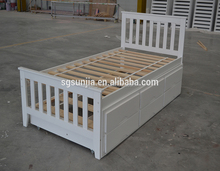 Wooden pull out bunk bed for custom