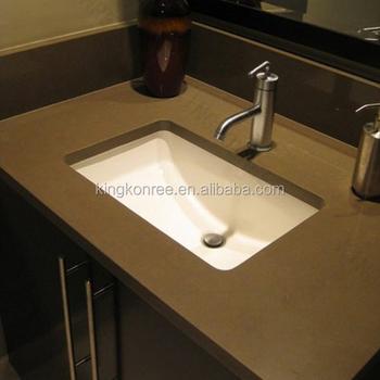 Custom Sizes Commercial Bathroom Sink Countertop Buy One Piece Bathroom Sink And Countertop