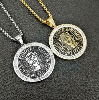 hippie necklace jesus wholesale coin necklace jewelry