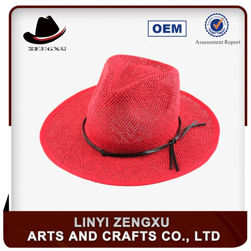 Large straw hat factory supply cheap promotion bangkok best sell lady straw hat beach hat