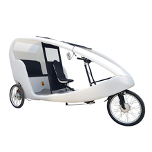 Battery Powered Electric Passenger Tricycle 2 Passeng Seat Similar to German VeloTaxi