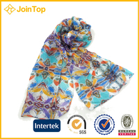 Hot sale silk white chiffon scarf material
