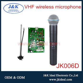 jk006d vhf karaoke microphone for android tv with
