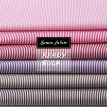 James Ready 100% Cotton Yarn Dyed Plain Weaving Classical Stripe Shirting & Dress Fabric