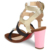 print toe patent leather new model high heel women sandals