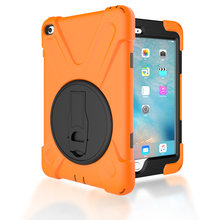 Rotation 360 full body guard rubber case for iPad mini 4 case
